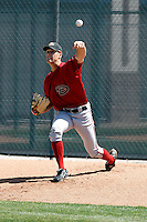 Pat McAnaney - Arizona Diamondbacks - 2009 spring training.Photo by:  Bill Mitchell/Four Seam Images