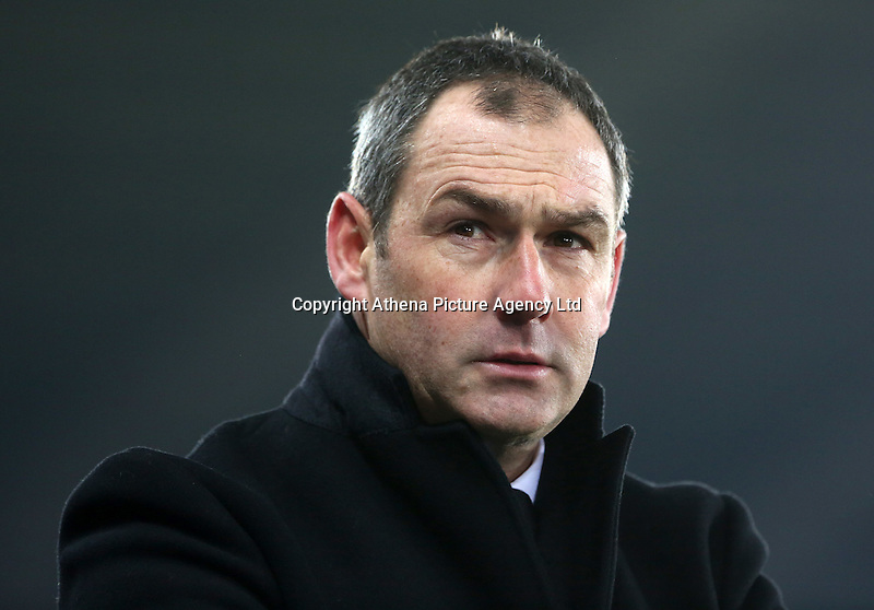 Swansea City manager Paul Clement during the Premier League match between Swansea City and Leicester City at The Liberty Stadium, Swansea, Wales, UK. Sunday 12 February 2017