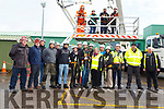Instructors and students stand by the cranes and are ready for heights to 163ft at the ETB Training Centre on Tuesday.