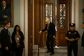 Senate Majority Leader Mitch McConnell (R-KY) makes his way to his office from the Senate Chamber at the US Capitol in Washington, DC, Tuesday, March 17, 2020. Credit: Rod Lamkey / CNP