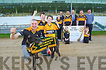 Pictured at the launch of the Austin Stacks Night at the Dogs on Monday evening, which takes place on Friday 23rd May were front l-r: Kieran Donaghy with David and Mark Lynch. Back l-r: Lara Flynn, Declan Dowling, Ciara Nix, Peter O'Regan, Liam Lynch, Padraig Lynch, Noel Lynch, Dan Foley and Rory Lynch.