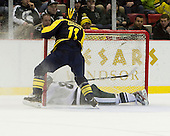 The University of Michigan men's hockey team beat Michigan State, 5-2, in the Great Lakes Invitational third place game at Joe Louis Arena in Detroit, Mich., on December 30, 2012.
