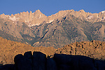 Mount Whitney as seen from the Alabama Hills, near Lone Pine, Eastern Sierra, California