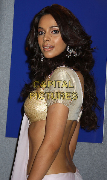 """MALLIKA SHERAWAT.At the 'The Myth' Press Conference,.At The Toronto Film Festival,.Toronto, 15th September 2005.half length dangling earring sari.Ref"""" ADM/LF.www.capitalpictures.com.sales@capitalpictures.com.© Capital Pictures."""