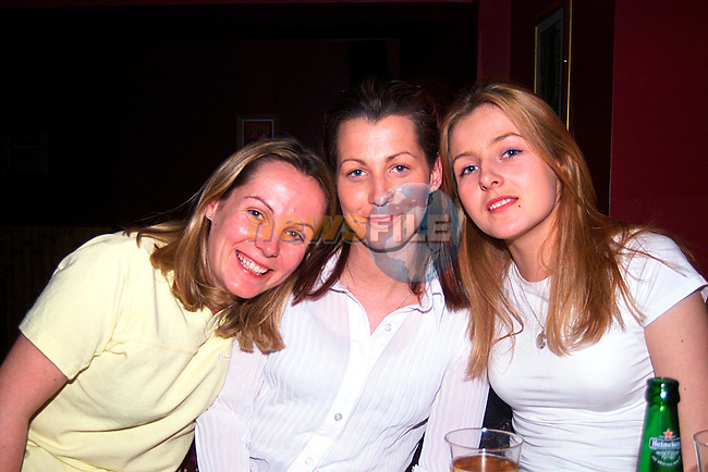 Patrice, Samantha, and Michelle Carney enjoying a night in Magnum,s...Pic Newsfile