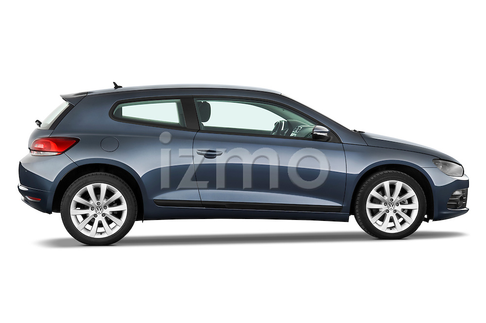 Passenger side profile view of a 2009 Volkswagen Scirocco.