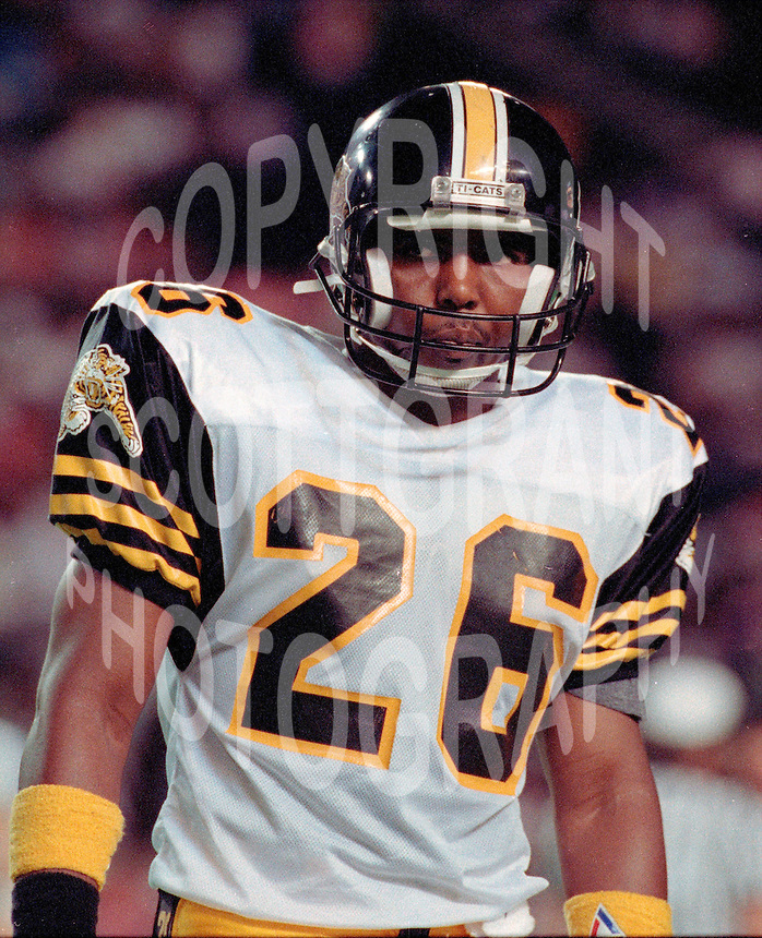 Rickey Royal HamiltonTiger Cats 1991. Copyright photograph Scott Grant