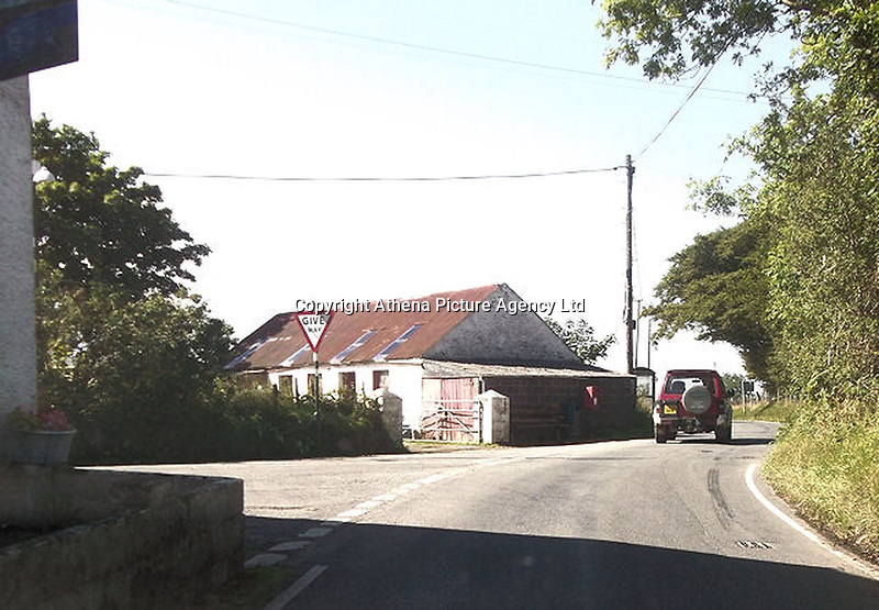 Pictured: The village of Ffair Rhos in Ceredigion, Wales, UK.<br /> Re: A three-year-old boy was killed in a caravan fire in the early hours of Sunday morning at Ffair Rhos, near Tregaron, Ceredigion, west Wales.<br /> His four year old brother is in a critical but stable condition in hospital and his dad's condition is stable.<br /> The fire service said a touring caravan and vehicle were completely destroyed and adjacent property damaged in the blaze.<br /> Emergency services had been called to the scene at 5.35am on Sunday.