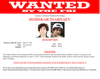 FBI released material on Friday, April 19, 2013 related to the search for Dzhokar Tsarnaev a suspect in the Boston Marathon bombings on Monday, April 15, 2013. (© Richard B. Levine)