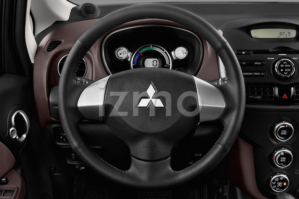 Car pictures of steering wheel view of a 2016 Mitsubishi iMiEV 5 Door Micro Car Steering Wheel