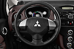 Car pictures of steering wheel view of a 2017 Mitsubishi iMiEV 5 Door Micro Car Steering Wheel