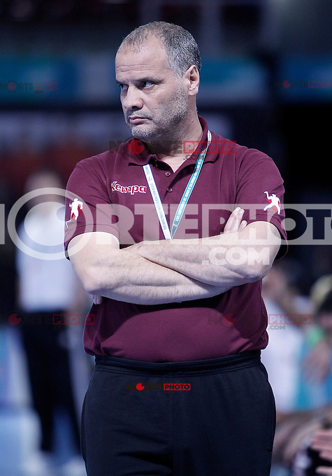 Algeria's coach Salah Bouchekriou during 23rd Men's Handball World Championship preliminary round match.January 14,2013. (ALTERPHOTOS/Acero) 7NortePhoto