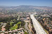 Aerial Stock Photo of 5 Freeway in San Juan Capistrano