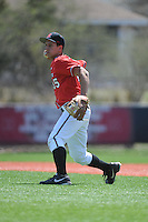 Rutgers University Scarlet Knights pitcher Sean Feeney (35) during practice before a game against the University of Cincinnati Bearcats at Bainton Field on April 19, 2014 in Piscataway, New Jersey. Rutgers defeated Cincinnati 4-1.  (Tomasso DeRosa/ Four Seam Images)