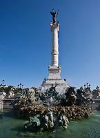 Europe/France/Aquitaine/33/Gironde/Bordeaux: Place des Quinconces - Fontaine de la colonne des Girondins