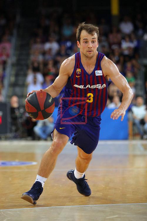 League ACB-ENDESA 201/2019.Game 38.<br /> PlayOff Semifinals.1st match.<br /> FC Barcelona Lassa vs Tecnyconta Zaragoza: 101-59.<br /> Kevin Pangos.
