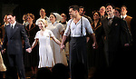 Michael Cerveris, Elena Roger, Ricky Martin & Max Von Essen with the Company.during the Broadway Opening Night Performance Curtain Call for 'EVITA' at the Marquis Theatre in New York City on 4/5/2012