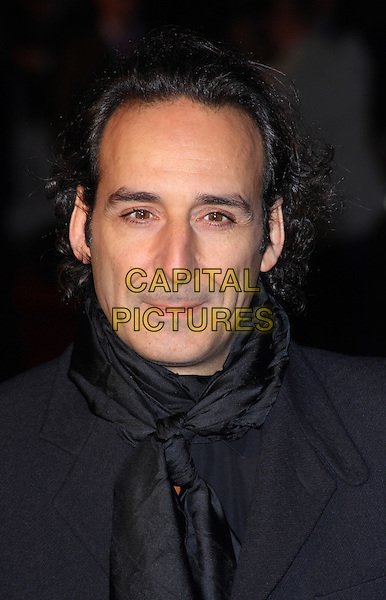 "ALEXANDRE DESPLAT.54th BFI London Film Festival American Express Gala screening of ""The King's Speech"" at the Odeon Leicester Square, London, England, UK,.October 21st 2010..LFF portrait headshot black scarf .CAPJIL.©Jill Mayhew/Capital Pictures"