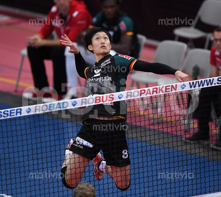 Volleyball 1. Bundesliga  Saison 2017/2018 TV Rottenburg - Volley Bisons Buehl       11.11.2017 Masahiro Yanagida (Volley Bisons Buehl)