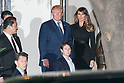US President Donald Trump (C) and his wife Melania Trump (R) leave the teppanyaki restaurant Ukai-tei in Ginza on November 5, 2017, Tokyo, Japan. Trump and Japan's Prime Minister Shinzo Abe enjoyed dinner in Tokyo after playing golf in the afternoon. Japan is the first stop on his five-nation tour in Asia. (Photo by Rodrigo Reyes Marin/AFLO)