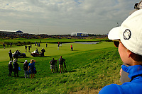 A view of the 9th fairway during the friday fourball at the Ryder Cup, Le Golf National, Iles-de-France, France. 28/09/2018.<br /> Picture Fran Caffrey / Golffile.ie<br /> <br /> All photo usage must carry mandatory copyright credit (© Golffile | Fran Caffrey)