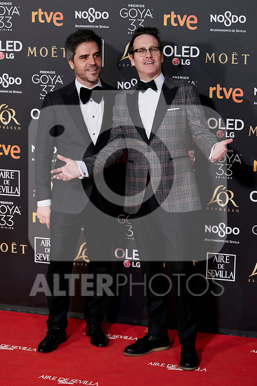 Ernestos Sevilla and Joaquin Reyes attends to 33rd Goya Awards at Fibes - Conference and Exhibition  in Seville, Spain. February 02, 2019. (ALTERPHOTOS/A. Perez Meca)