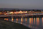 Santa Cruz Muni Wharf and Boardwalk at dusk