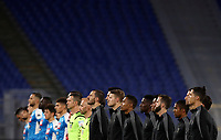 Juventus and Napoli players line up before the start of the Italian Cup football final match between Napoli and Juventus at Rome's Olympic stadium, with closed doors, June 17, 2020. Napoli won 4-2 at the end of a penalty shootout following a scoreless draw.<br /> UPDATE IMAGES PRESS/Isabella Bonotto