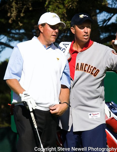 Phil Mickelson and Bones at the 2009 President's Cup held Harding Park Golf Course in San Francisco, CA.  I was shooting for the San Francisco Examiner's website.