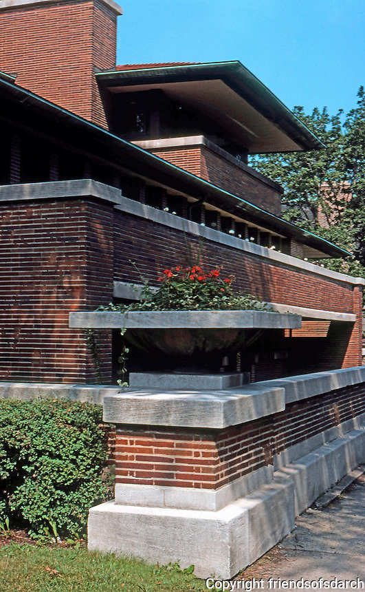 F.L. Wright: Robie House, 1908-09.  Photo '76.
