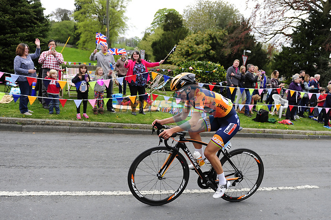 Elizabeth Deignan (ENG) Boels Dolmans in action during the ASDA Women's Tour de Yorkshire 2017 running 122.5km from Tadcaster to Harrogate, England. 29th April 2017. <br /> Picture: ASO/P.Ballet | Cyclefile<br /> <br /> <br /> All photos usage must carry mandatory copyright credit (&copy; Cyclefile | ASO/P.Ballet)