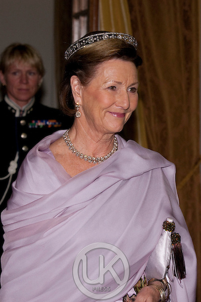 King Harald, and Queen Sonja of Norway, State visit to South Africa..attend a State Banquet given by HE Mr Jacob Zuma, President of The Republic of South Africa, and his wife Mantuli Zuma, at The Presidential Guest House in Pretoria.