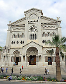 Cathedral of Our Lady of the Immaculate Conception (Cathédrale Notre-Dame-Immaculée), also known as the Saint Nicholas Cathedral, in Monaco on Monday, October 21, 2013.  This cathedral is where Prince Ranier III and Grace Kelly were married on April 19, 1956. <br /> Credit: Ron Sachs / CNP