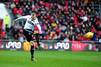 Mike van der Hoorn of Swansea City in action during the Sky Bet Championship match between Bristol City and Swansea City at Ashton Gate in Bristol, England, UK. Monday 02 February 2019