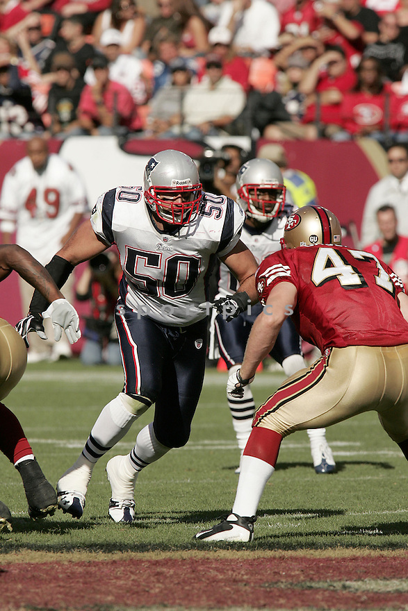 MIKE VRABEL, of the New England Patriots, in action against the San Francisco 49ers during the Patriots game in San Francisco, California on October 05, 2008. ..Patriots  win 30-21