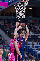 Estudiantes Dario Brizuela and FC Barcelona Lassa Thomas Heurtel during Liga Endesa match between Estudiantes and FC Barcelona Lassa at Wizink Center in Madrid, Spain. October 22, 2017. (ALTERPHOTOS/Borja B.Hojas) /NortePhoto.com