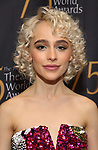 Sophia Anne Caruso attends the 75th Annual Theatre World Awards at The Neil simon Theatre  on June 3, 2019  in New York City.