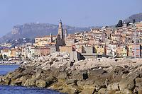 - France, French Riviera, Menton from the sea<br /> <br /> - Francia, Costa Azzurra, Mentone vista dal mare