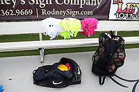 Cary, North Carolina  - Wednesday May 24, 2017: Practice equipment prior to a regular season National Women's Soccer League (NWSL) match between the North Carolina Courage and the Sky Blue FC at Sahlen's Stadium at WakeMed Soccer Park. The Courage won the game 2-0.
