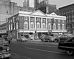 Pittsburgh PA:  The view of the Pitt Building at the corner of Smithfield Street and Boulevard of the Allies - 1951