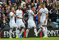 Leeds United's Pablo Hernandez celebrates scoring the opening goal <br /> <br /> Photographer Alex Dodd/CameraSport<br /> <br /> The EFL Sky Bet Championship - Leeds United v Nottingham Forest - Saturday 10th August 2019 - Elland Road - Leeds<br /> <br /> World Copyright © 2019 CameraSport. All rights reserved. 43 Linden Ave. Countesthorpe. Leicester. England. LE8 5PG - Tel: +44 (0) 116 277 4147 - admin@camerasport.com - www.camerasport.com