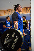 Anthony Perenise of Bath Rugby in the gym. Bath Rugby pre-season training on July 2, 2018 at Farleigh House in Bath, England. Photo by: Patrick Khachfe / Onside Images