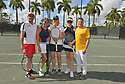 WESTON, FL - DECEMBER 08: Sajid Malik, Ninoska Malik, Martina Navratilova, former Czechoslovak and American professional tennis player and coach, Elizabeth Signore and Tony Signore playing at Midtown Athletic Club Weston on December 08, 2018 in Weston, Florida. ( Photo by Johnny Louis / jlnphotography.com )