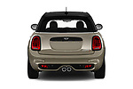 Straight rear view of a 2018 Mini MINI Cooper S Chilli 5 Door Hatchback stock images