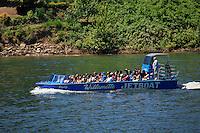 """Willamette Jetboat """"Osprey"""" on the Willamette River near Oregon City, Oregon"""