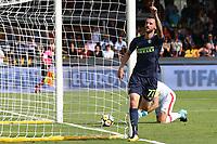 Esultanza dopo il gol di Marcelo Brozovic Inter<br /> Benevento 01-10-2017  Stadio Ciro Vigorito<br /> Football Campionato Serie A 2017/2018. <br /> Benevento - Inter<br /> Foto Cesare Purini / Insidefoto