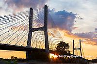65095-02907 Bill Emerson Memorial Bridge at sunrise over Mississippi River Cape Girardeau  MO