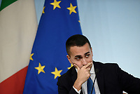Rom, 20 Ottobre 2018<br /> Luigi Di Maio,.<br /> Palazzo Chigi<br /> Conferenza stampa al termine del Consiglio dei ministri sul Def