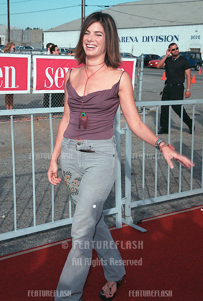 "01AUG99: Actress SANDRA BULLOCK at the 1999 Teen Choice Awards, in Santa Monica, where she won for ""Best Hissy Fit - Film"" for ""Forces of Nature""...© Paul Smith / Featureflash"
