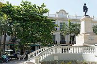 The Parque Hidalgo and statue of Manuel Cepeda Peraza, Merida, Yucatan, Mexico